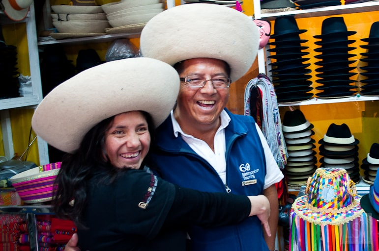 Wearing hats is just one of the many things to do in Quito