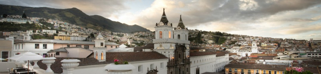 Views over Plaza San Francisco from Casa Gangotena