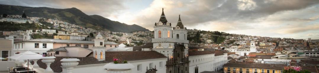 Views over Plaza San Francisco from Casa Gangotena