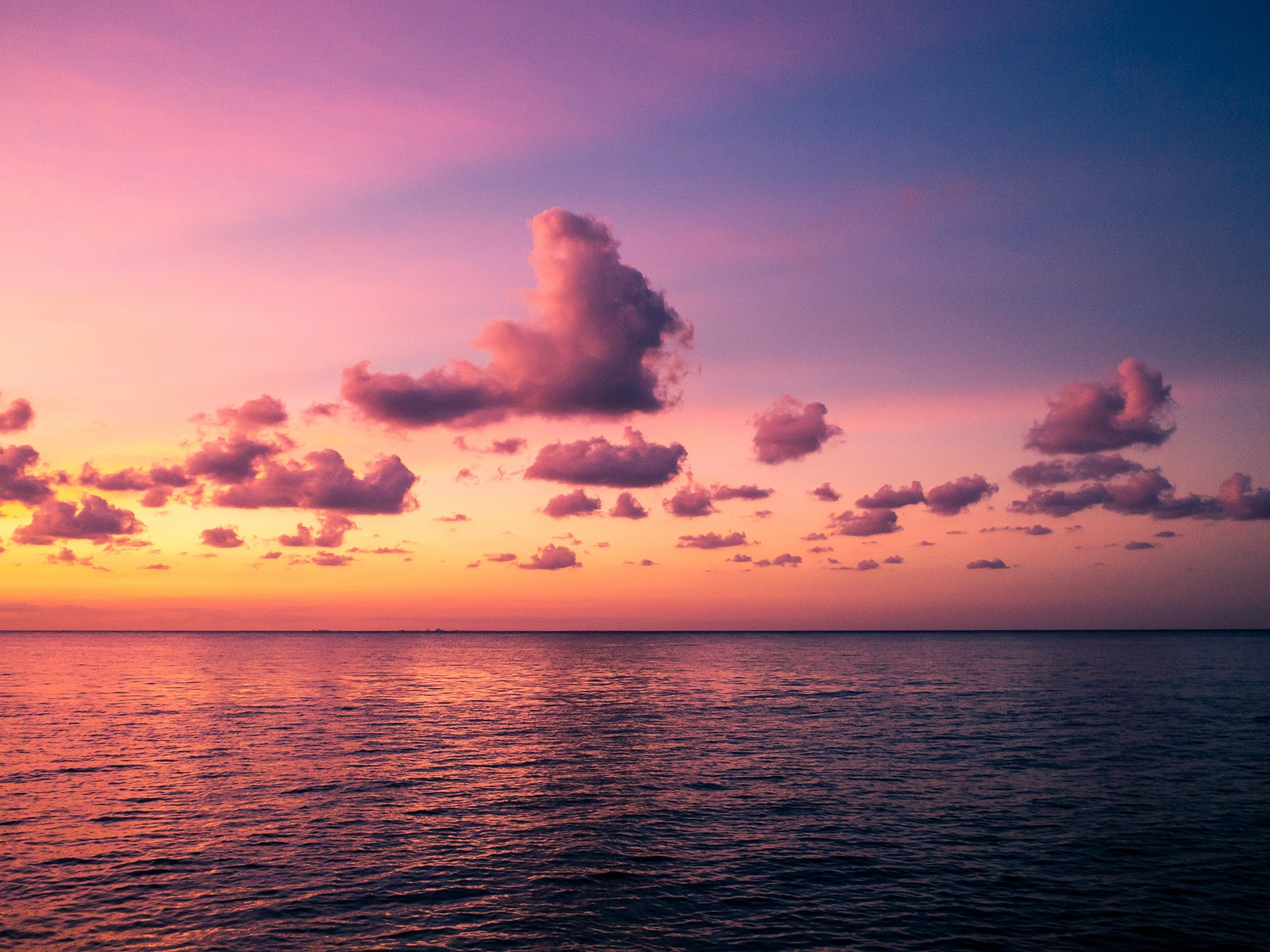 A pink sunset over the Caribbean Sea things to do in Cozumel