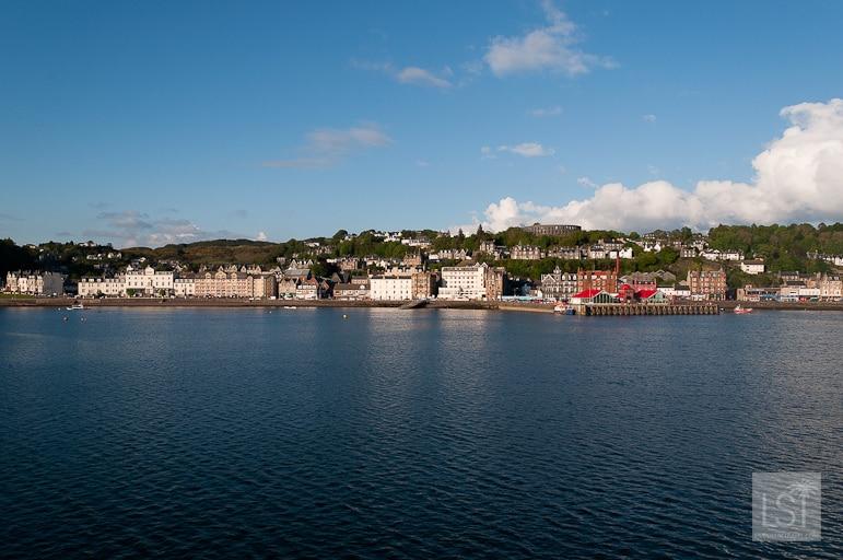 Arriving back into Oban, west coast of Scotland