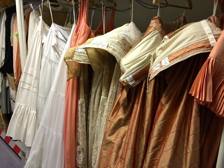 Costumes ready for a production at Teatro Real