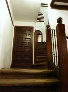 Door and stairway in the former home of Lope de Vega, Spanish playwright
