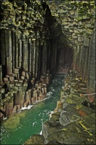 Fingal's Cave on Staffa Island, off the west coast of Scotland