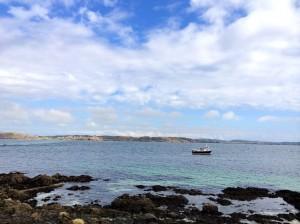 The coast off Iona