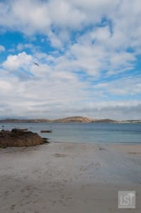 On the beach in Iona, west coast of Scotland