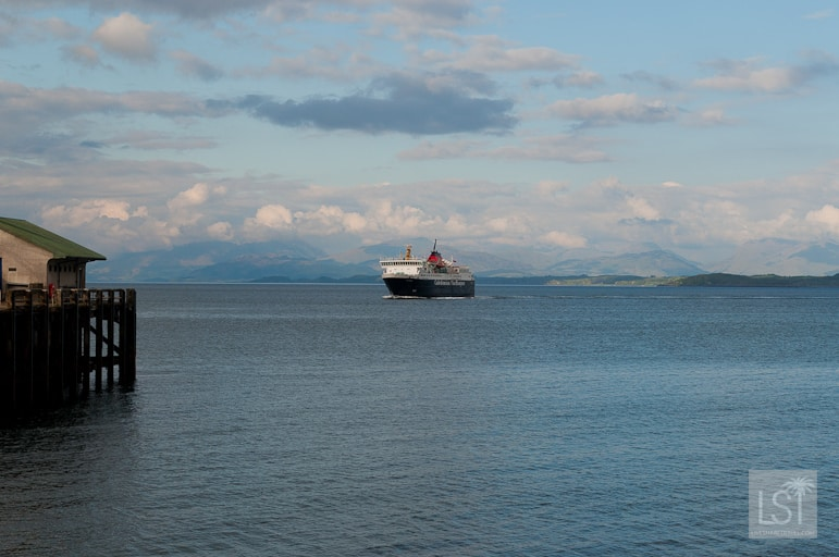 Our ride - a Caledonian MacFayne ferry coming into Mull, west coast of Scotland
