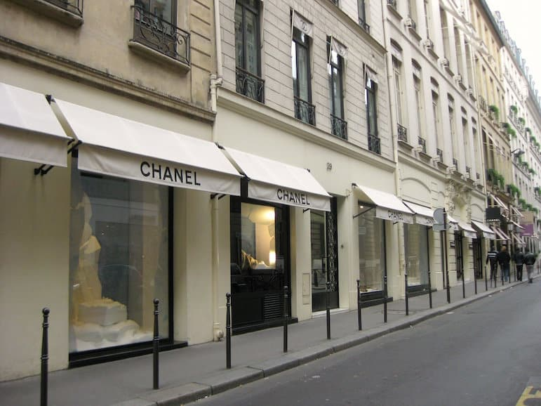 Places to go in Paris - Chanel store | pic: Rose Trinh
