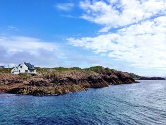 A sail of three islands on the west coast of Scotland