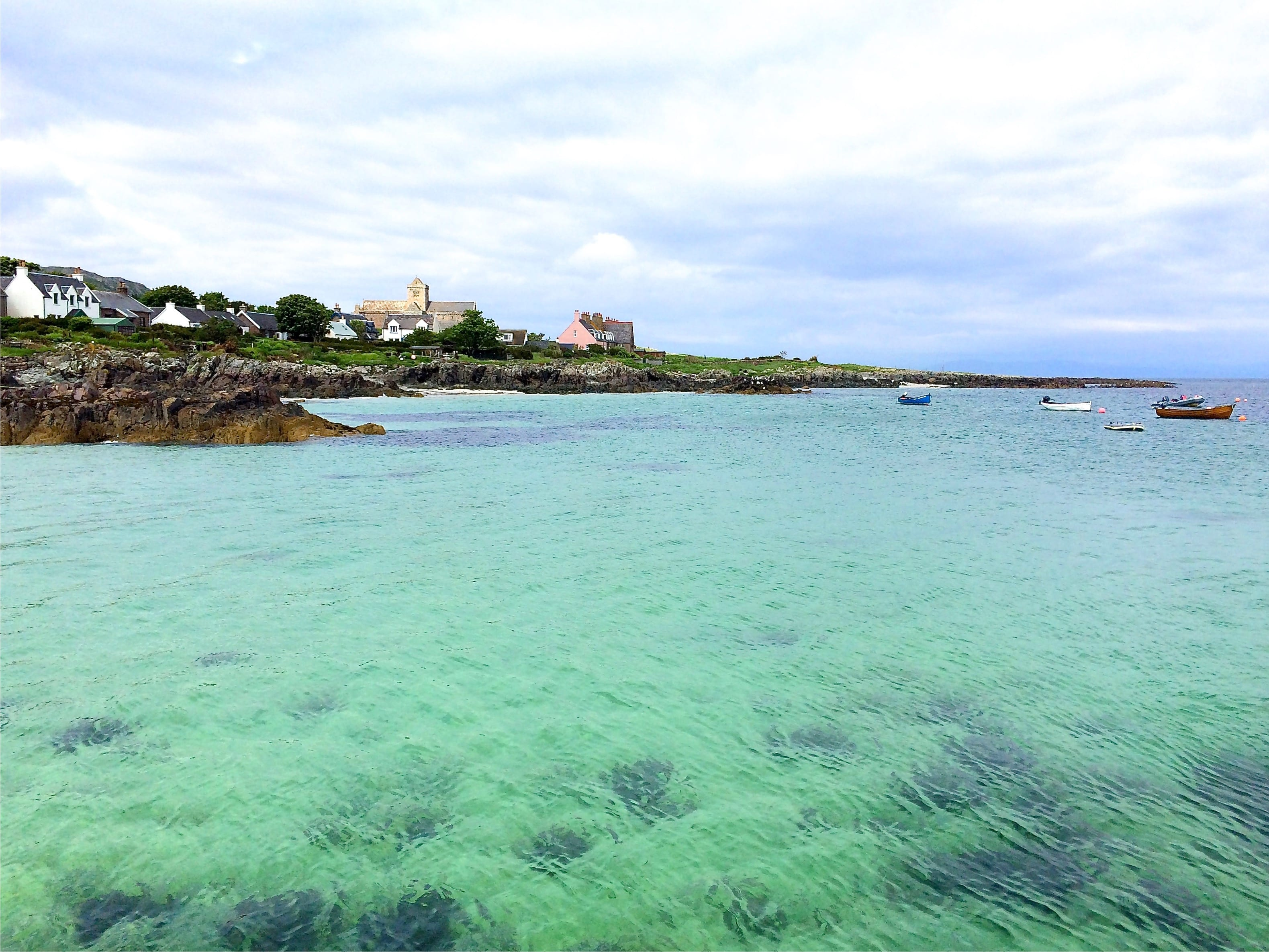 Shallow water at Iona on the west coast of Scotland