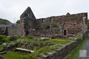 The ruins of Iona Nunnery, west coast of Scotland