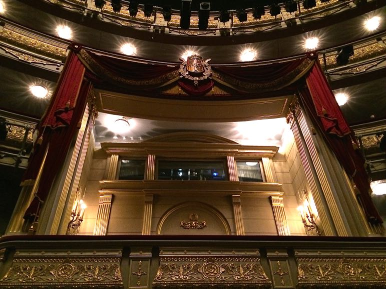 Things to do in Madrid - visit Teatro Real. This is the royal box