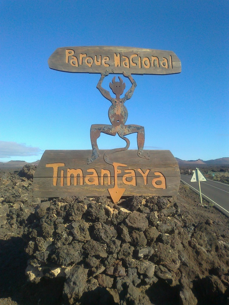 The symbol of Timanfaya National Park - El Diablo. Pic: Paul Stephenson