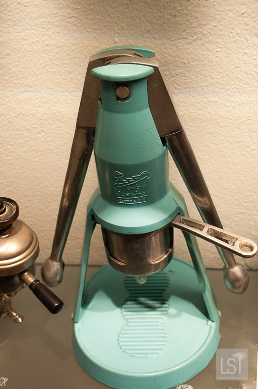 A rocket style Baby Faemina household machine used to make coffe