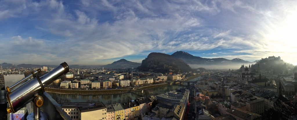 Best places to go in the world in 2015 - view of Salzburg from Monschburg