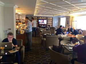 Breakfast amid the calm of the Executive Lounge, Thistle Hotels Marble Arch