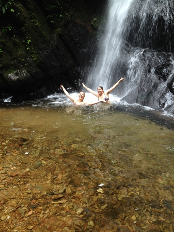 Cooling off in the pools of Mashpi rainforest