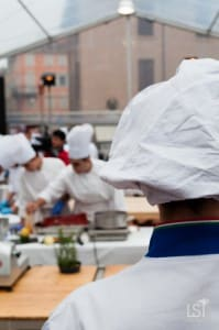 Food in Italy - watching the chefs at work