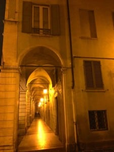 The porticos of Modena, Italy