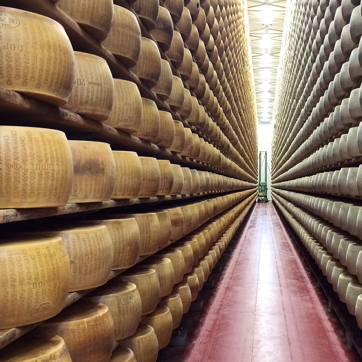 Cheese galore and this is just a section of the €20m store at Caseificio 4 Madonne