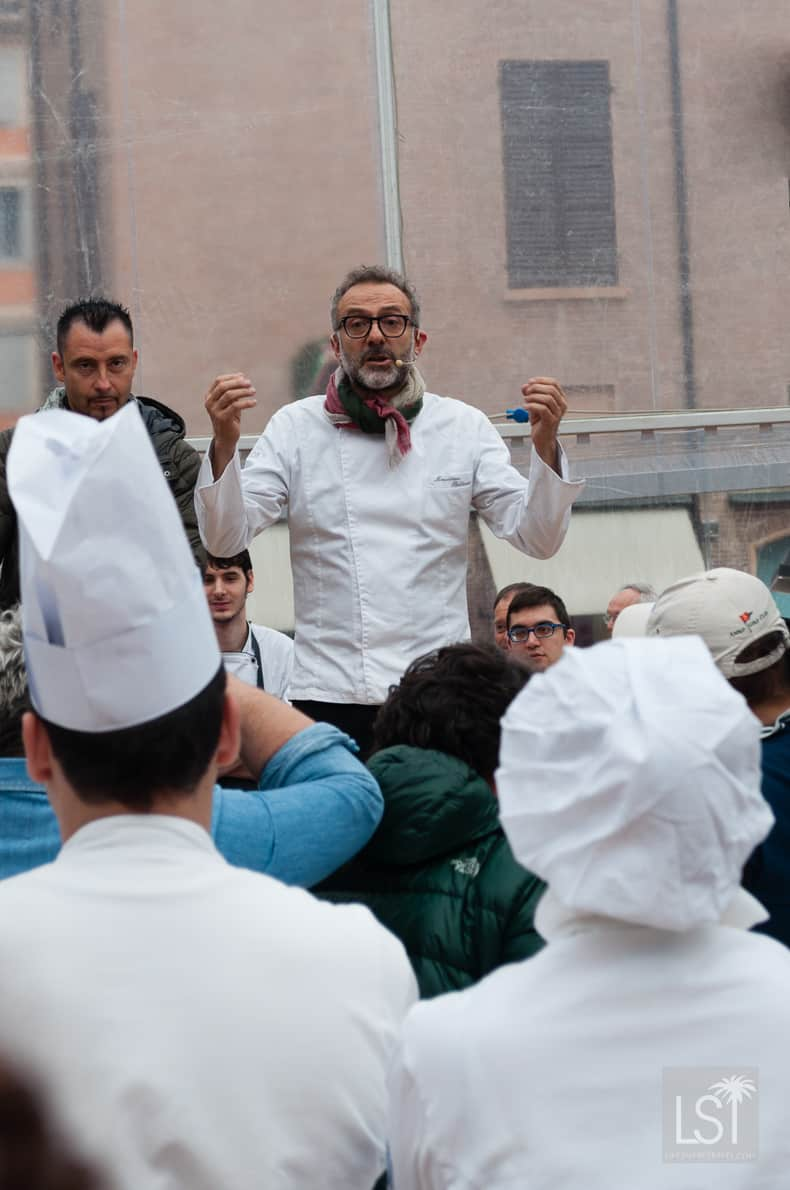 Massimo Boturra encourages young chefs in Modena