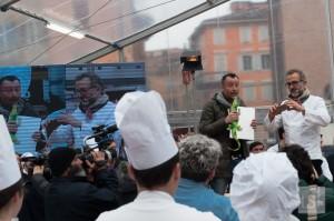 The zampone event in Modena's main square
