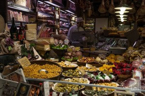 Food in Italy - delicatessen in Quadrilatero, Bologna