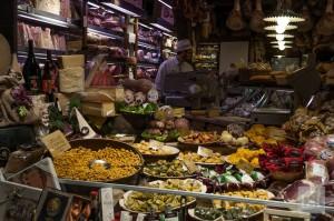 Food in Italy - delicatessen in Quadrilatero, Bologna