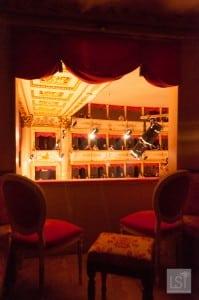 Box at the opera, Teatro Comunale Luciano Pavarotti in Modena