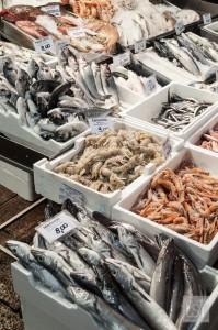 Food in Italy - fish in Quadrilatero, Bologna