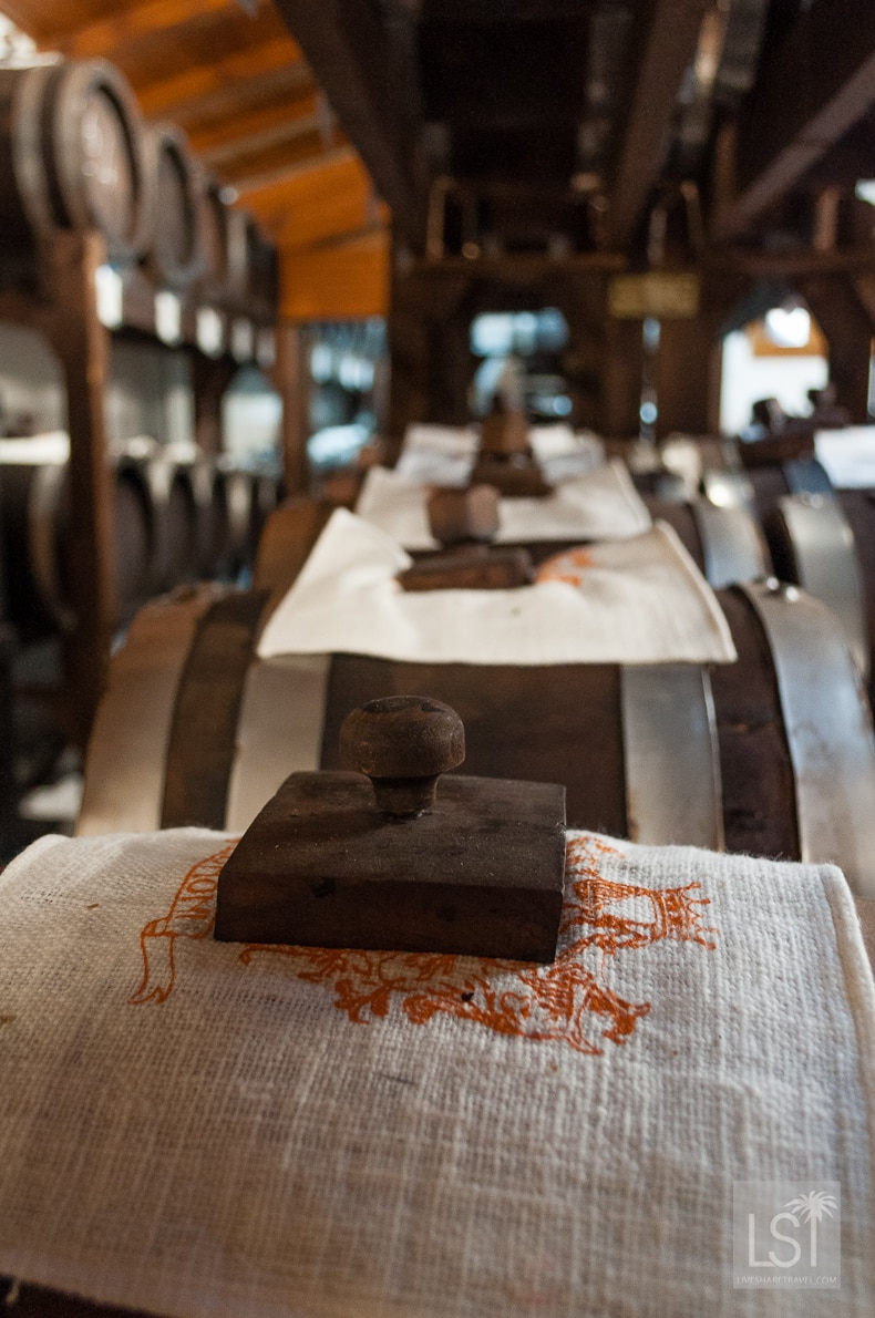 Food in Italy - the balsamic vinegar cellar at Acetaia Pedroni