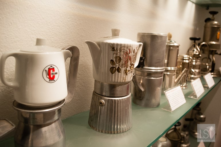 Household coffee makers used across Italy during the 1960s and 1970s