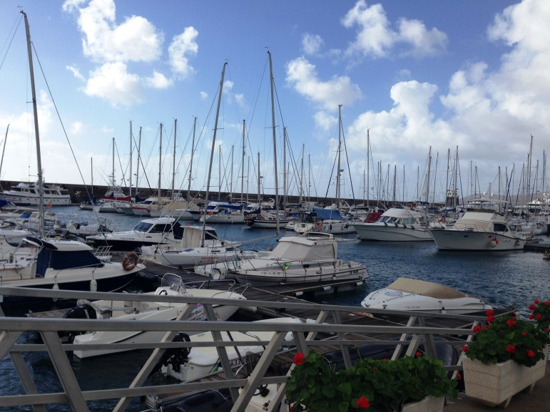 Things to do in Lanzarote - visit the Marina at Puerto Calero.