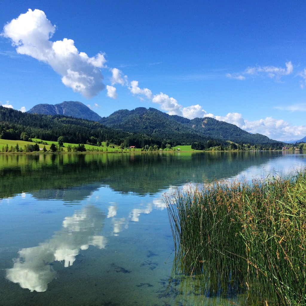 One of the best places to go in the world for the views - Weisensee, in Carinthia, Austria
