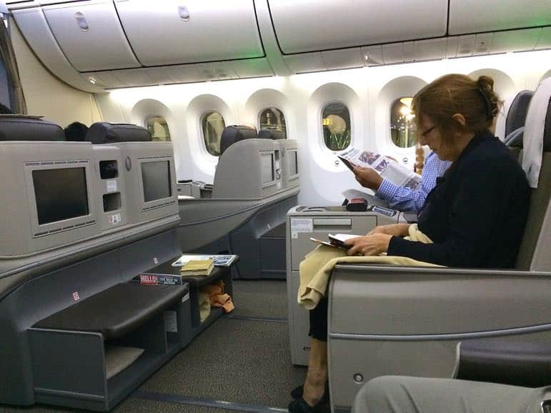 Ready for take off in Royal Brunei Airlines business class