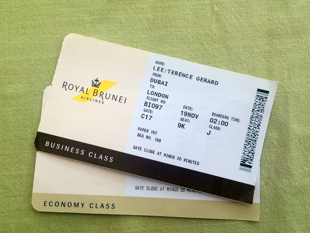 Royal Brunei Airlines business class and economy class review