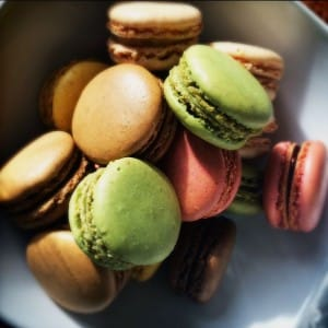 Scrummy macaroons at Thistle Hotels Marble Arch