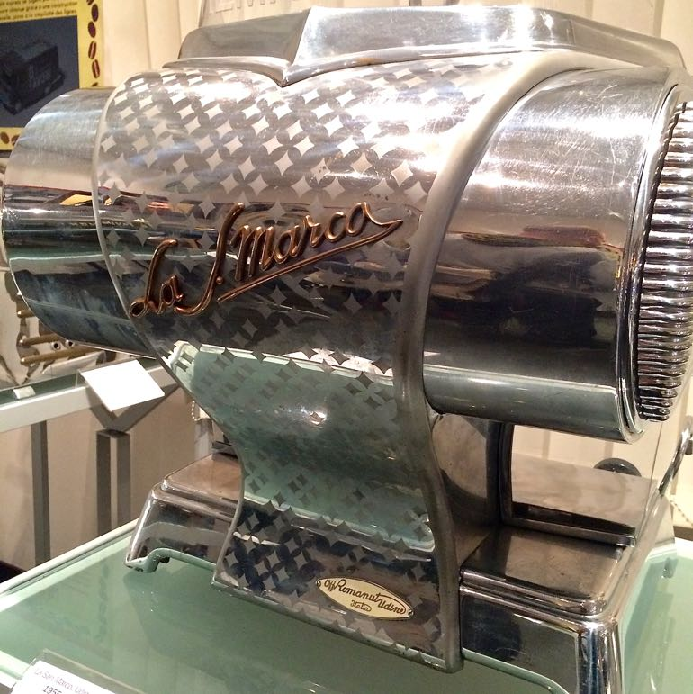 The Lollobrigida - as popular as coffee in Italy - this machine was made to resemble to curves of the country's famed film star, Gina Lollobrigida