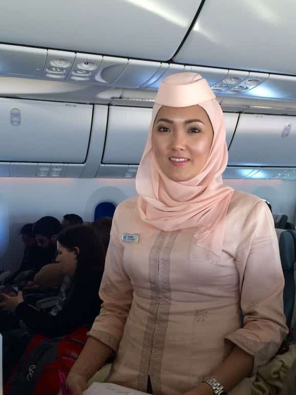Zurairah a flight attendant on Royal Brunei Airlines