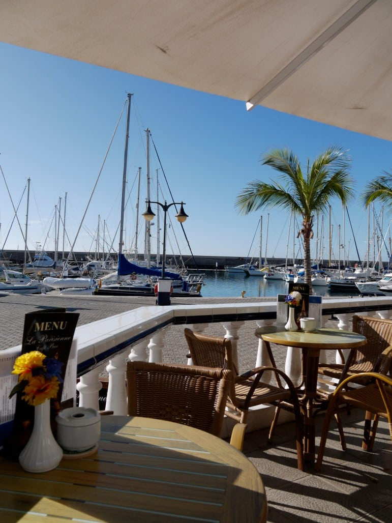 Having a drink at the waterfront of Puerto Calero is one of my favourite things to do in Lanzarote
