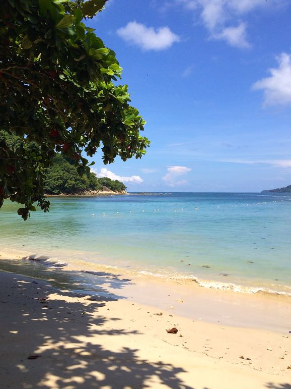 Beach at Gaya Island, one of the top destinations in the world