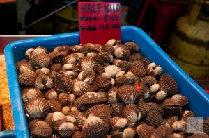 Clams at the Chinese market in Kota Kinabalu, on the island of Borneo