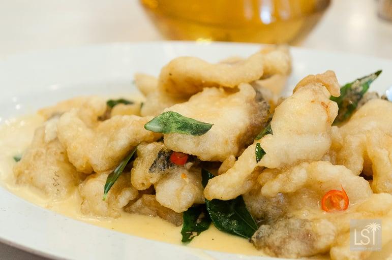 Fish at Alu Alu Restaurant - in Kota Kinabalu, one of Sabah's top honeymoon destinations
