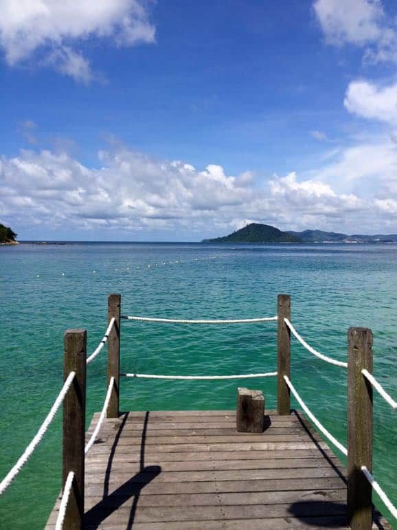 Into the blue at Gaya Island - one of the top honeymoon destinations in Sabah, Borneo