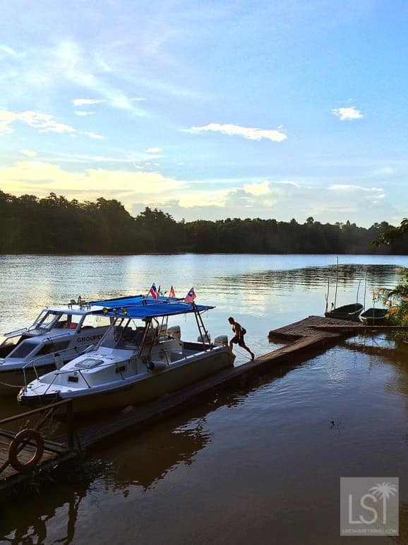 On the river, one of Sabah's top honeymoon destinations
