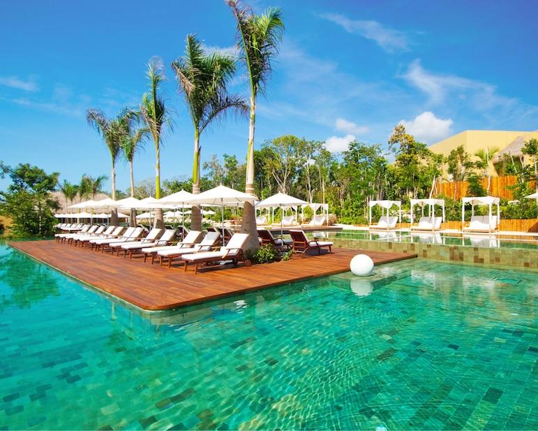 Pool at RCI resort Grand Velas Riviera Maya, Mexico