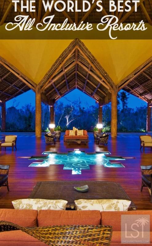 Resorts named in Tripadvisor's list of 25 top all-inclusive resorts