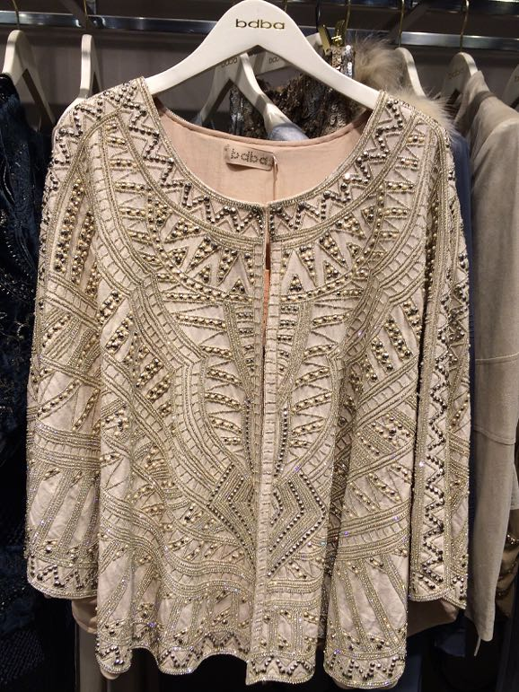 Shopping in Madrid - beaded gold jacket at bdba