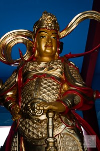 Statue at Puh Toh Tze Chinese temple in Kota Kinabalu, the island of Borneo's top honeymoon destinations