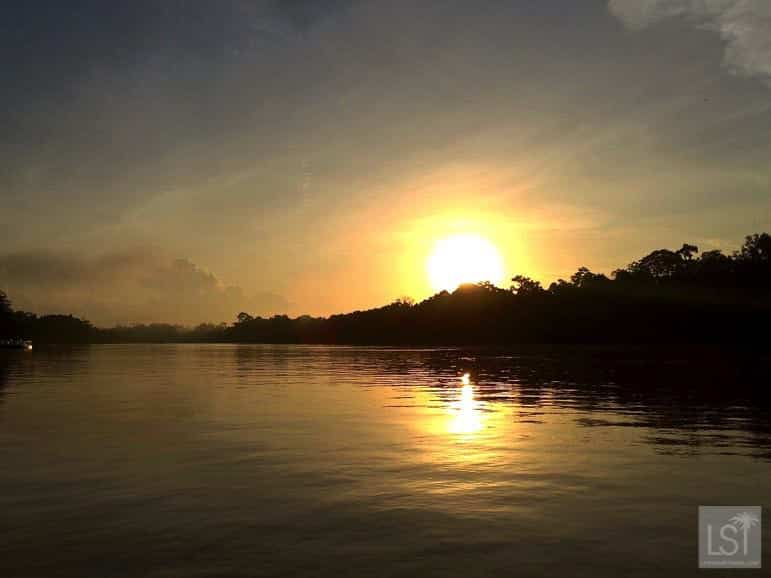 Sunrise over the Kinabatangan River, one of Sabah's top honeymoon destinations
